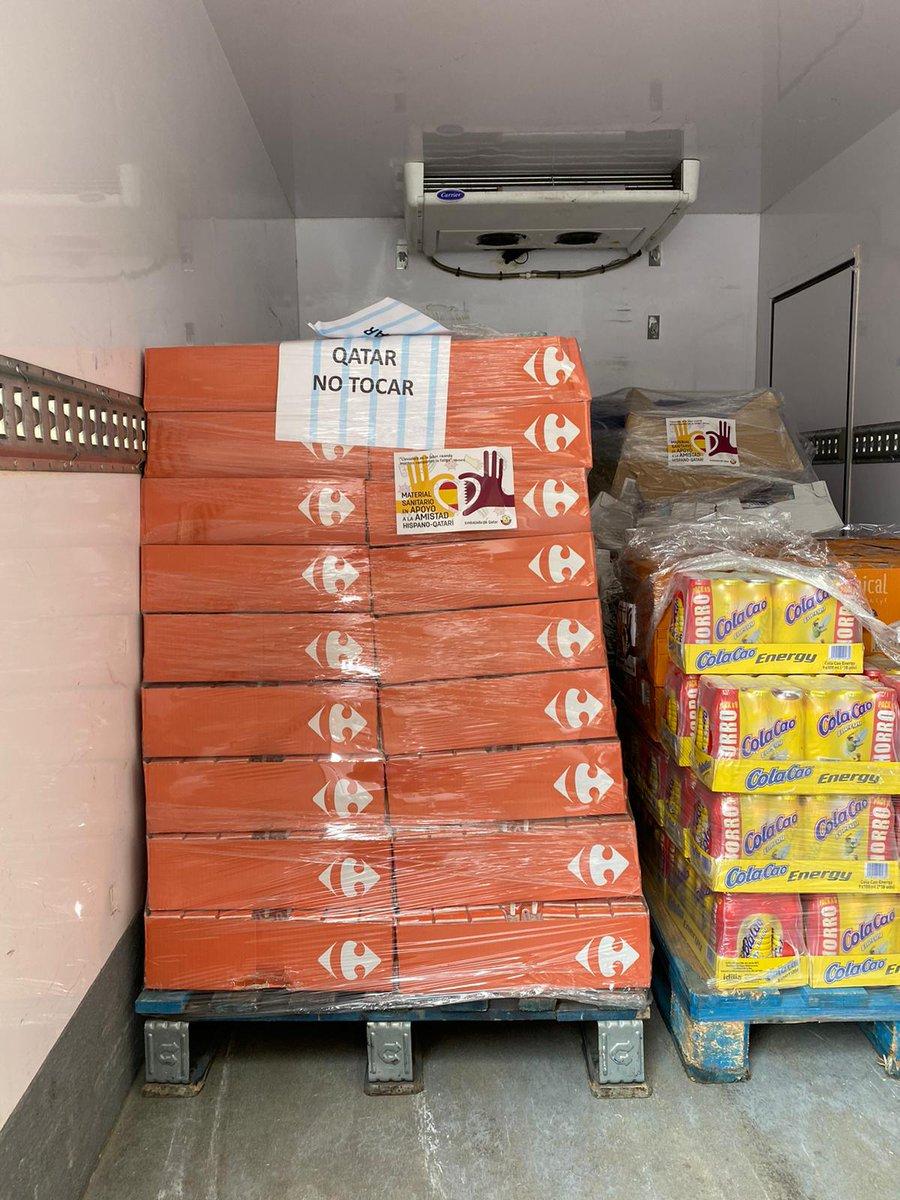 La embajada de #Qatar no quiere dejar atrás a las personas que peor lo están pasando por culpa de esta crisis. Por ello, ha contribuido a la entrega de alimentos no perecederos a comedores sociales de Madrid https://t.co/LGaVS2lOL2