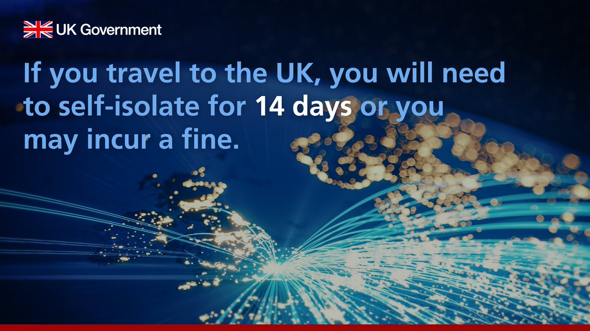 The rules for entering or returning to the UK are changing on 8 June.  Travellers will need to share contact details, travel information, and self-isolate for 14 days or they may incur a fine.  https://t.co/oCqQHkv5tc https://t.co/utGJQmEZ8d