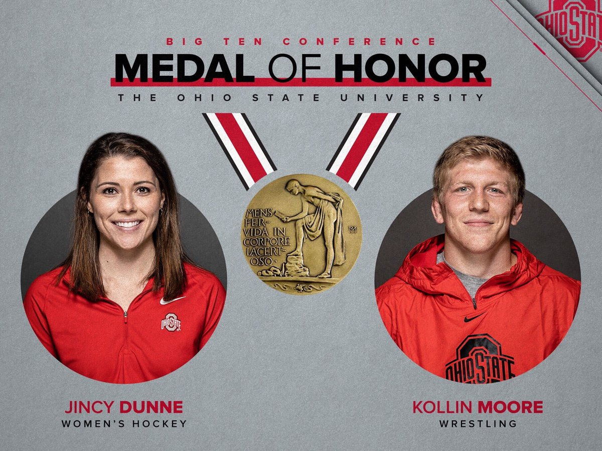 Ohio State's Big Ten Medal of Honor recipients are Moore and Dunne