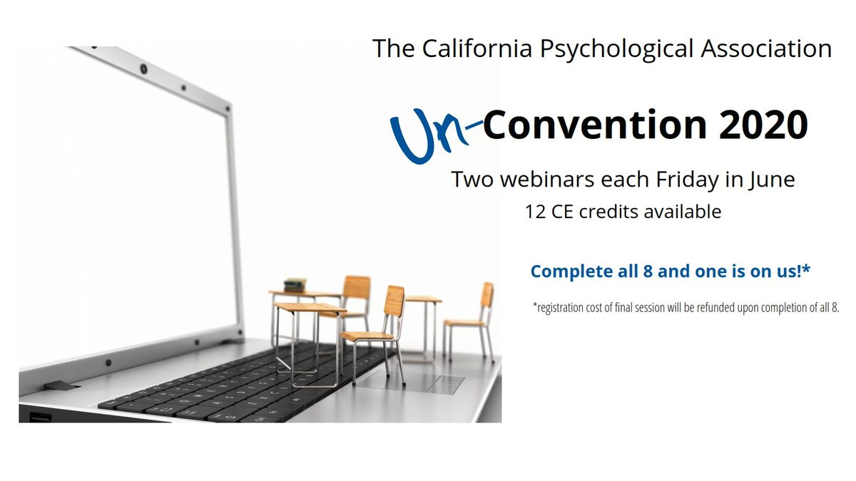 Just added!  Our Un-Convention 2020!  Every Friday in June, morning and afternoon, 12 credits!  Discounts for CPA members but open to all.  Complete all 8 and get one free! https://t.co/oZQQ6c1Igo https://t.co/3megkEzc5N
