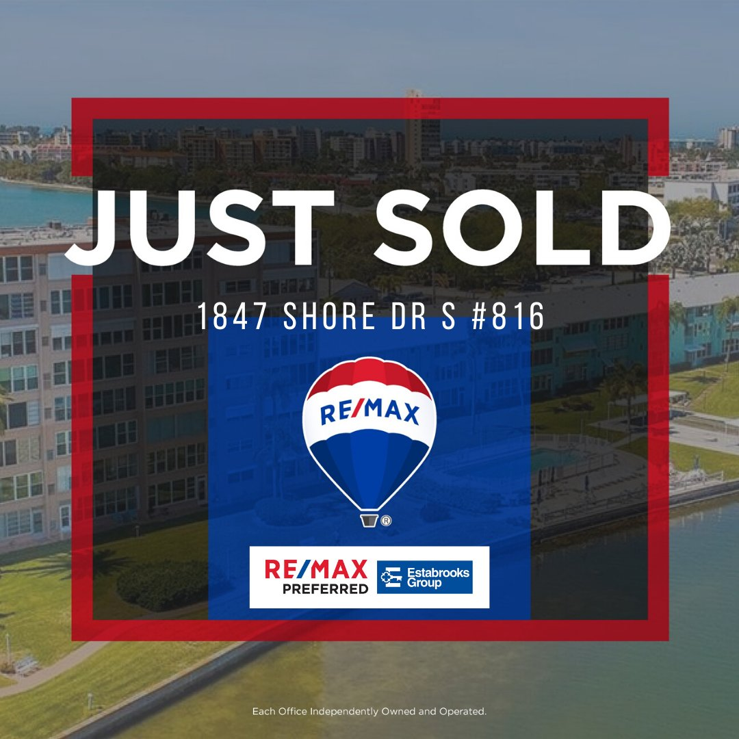 JUST SOLD!!  Congrats to our sellers on the sale of their Shore Crest condo!!  Whether you are buying or selling, we're here to help you every step of the way! Give us a call to get started   (727) 460-4061  #estabrooksgroup #remaxpreferred #rockstarrealtors #justsoldpic.twitter.com/EN9qJhVrNl