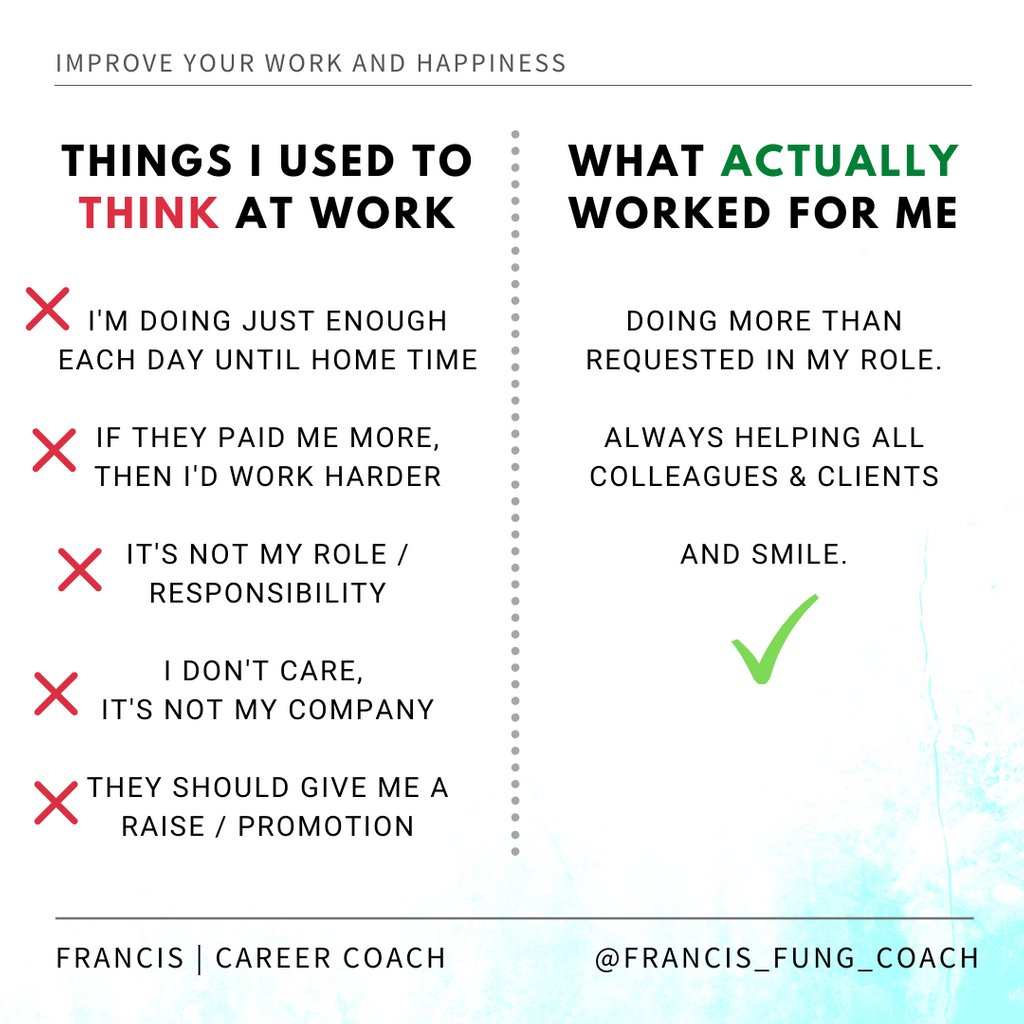 The biggest mistakes I used to believe at work...   ... I used to believe all unhappiness at work was all the JOB'S FAULT. What did change my life? - My THINKING!  #worklifesucks #worklifeharmony #worklifelove #worklifeballance #underpaid #worklifestyle #underpaid #youdeservemorepic.twitter.com/OFRf7d5SHD