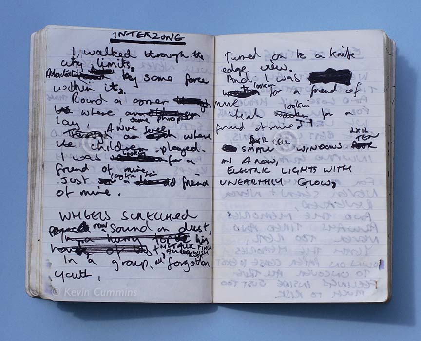 When I did my @joydivision book for Rizzoli, Mark Farrow who designed it, suggested we used some ephemera at the front of the book. This is from that shoot. It's Ian's notebook #TimsTwitterListeningParty #UnknownPleasures @peterhook @farrowdesignpic.twitter.com/6Ju3KO7o4p