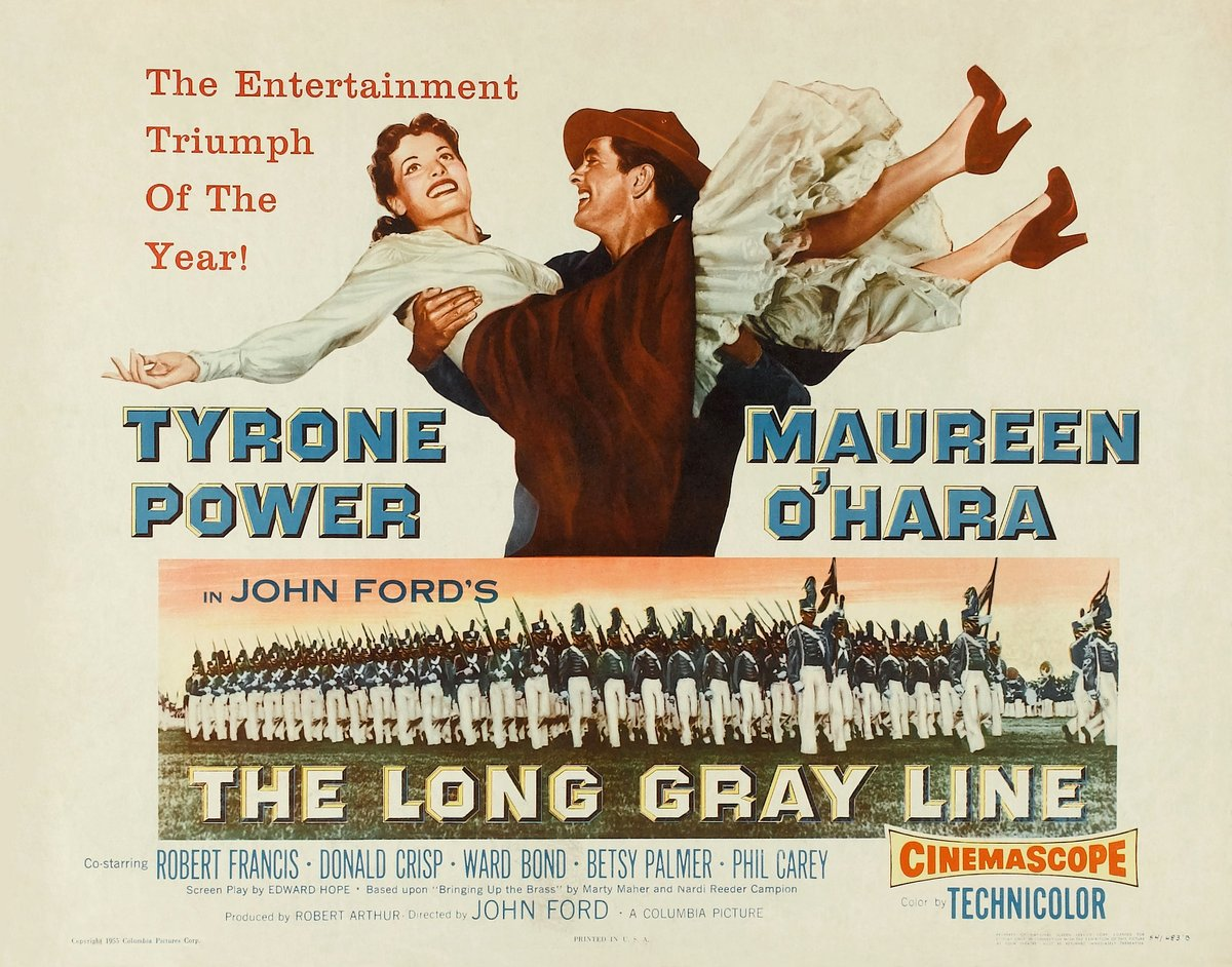 Our #POTD is both a #SportsFlixFriday & #MemorialDay selection...1955's #TheLongGrayLine! This #JohnFord film hilights the storied history of #WestPoint! However, it also spotlights the 1st ever use of the #TheForwardPass in 1913 between #NotreDame & #Army! #KnuteRockne #classicpic.twitter.com/M9FMrZ2T9K