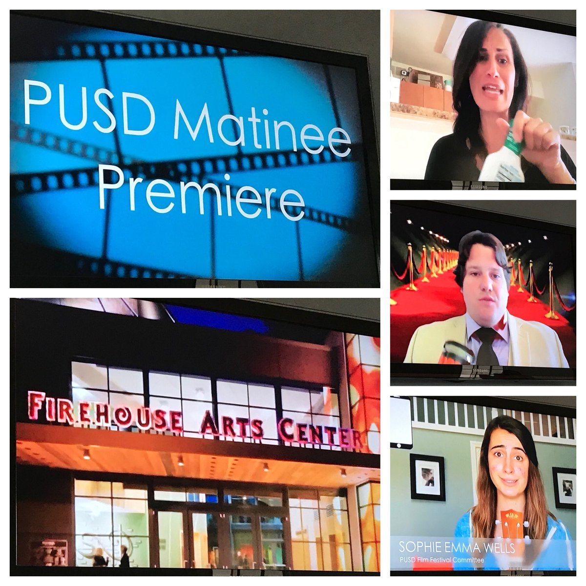 Student-created films and student-produced event! So proud of all the talent coming to fruition tonight! Keep watching at pusdfilmfestival.com