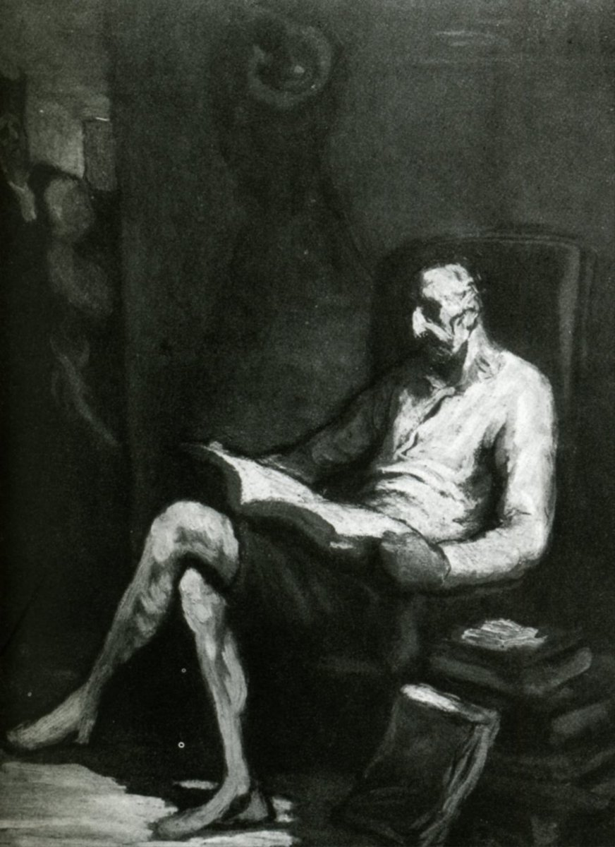 Don Quixote Reading, 1870 #realism #honoredaumier <br>http://pic.twitter.com/ZyXwiF08gL