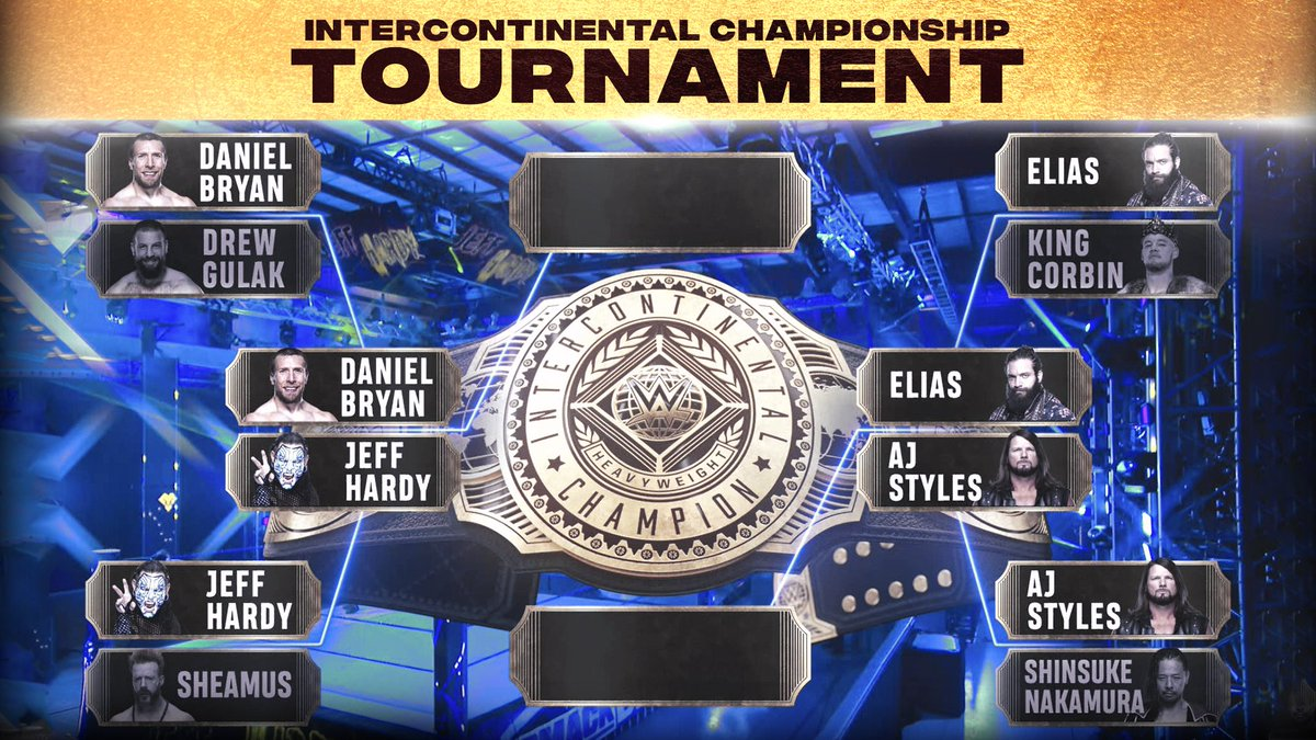 It's down to .  Here's how things stand in the #ICTitle tournament. #SmackDown <br>http://pic.twitter.com/NoxxbdrvLH