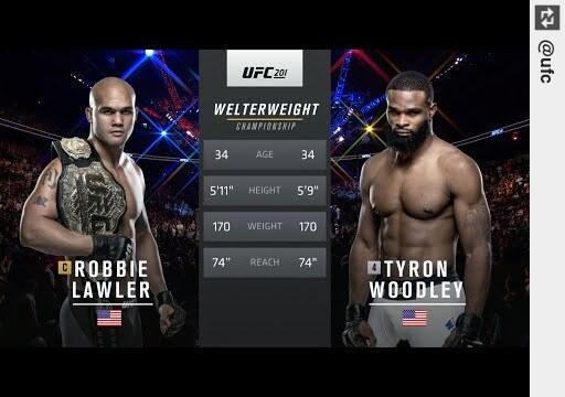 Watch Free Fight: #TyronWoodley vs #RobbieLawler https://t.co/bNpl7B7YCi #UFC https://t.co/wHJSzocOtS