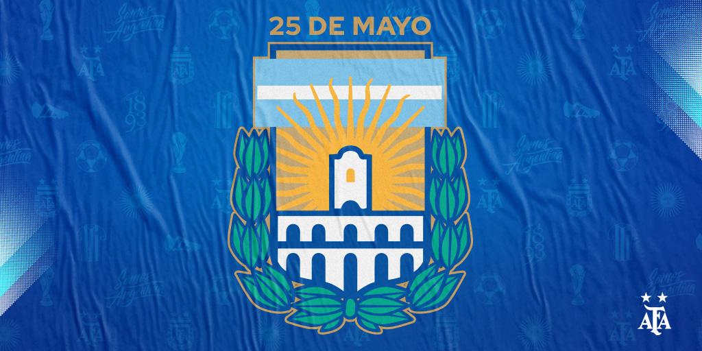 #DíaDeLaPatria 🇦🇷 La @afa conmemora un nuevo aniversario de la Revolución de Mayo.