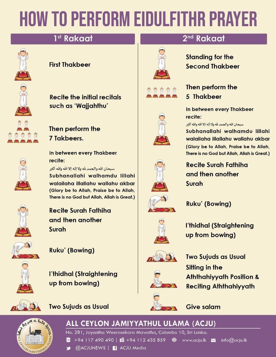 How to perform Eid-Ul-Fitr prayers at home: via @ACJUNEWS #Ramadan #EidUlFitr #lka https://t.co/Y2coIbRU61