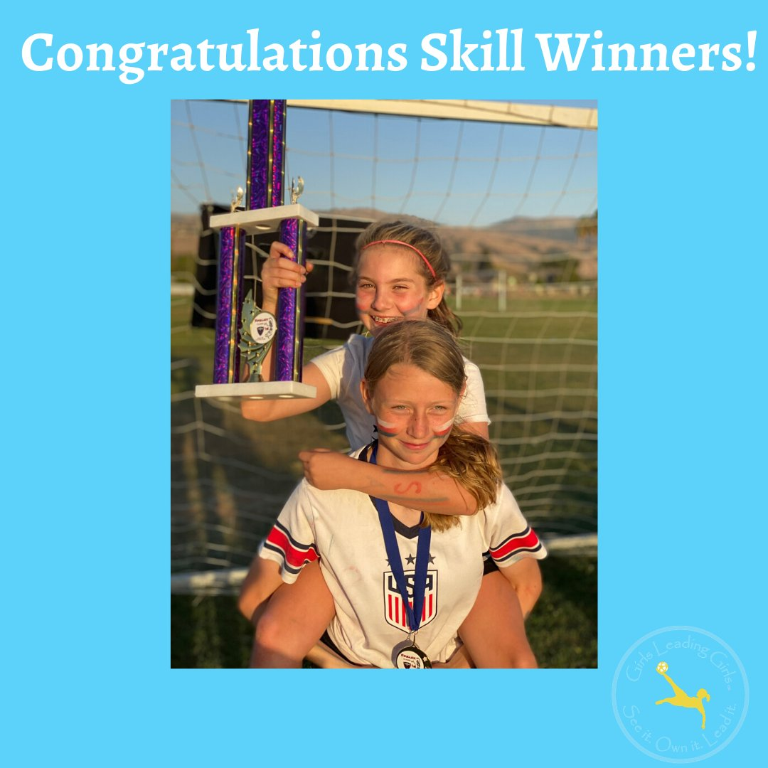 We are so proud of 3rd grader Ainsley for killing our Soccer Quiz & Kaia (pictured on bottom row) for rockin' the #Cruyff fake challenge!  . . . #girlsleadinggirls #soccergirl #skilloftheweek #soccerskill #soccerdrill #challengeaccepted @SoccerGrlProbs @GGWSL  @GISFoundation https://t.co/kQlQCyPmEl