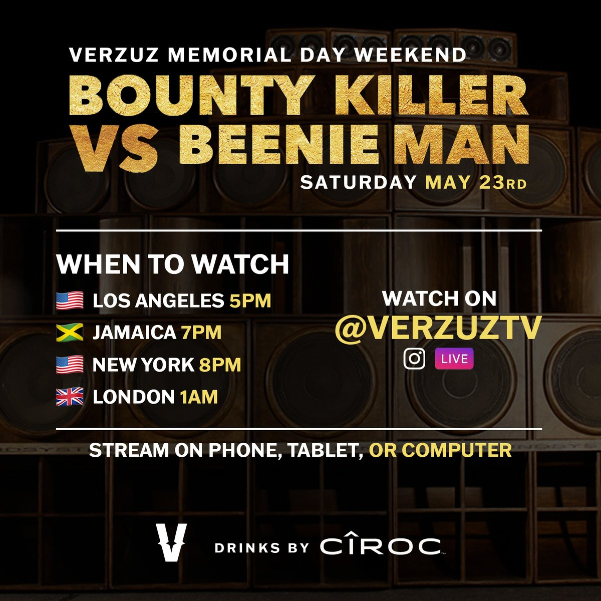 HOW/WHEN to watch @grunggaadzilla vs @KingBeenieMan. 5/23 8PM EST on 🚨 #VERZUZ IG Live 🚨