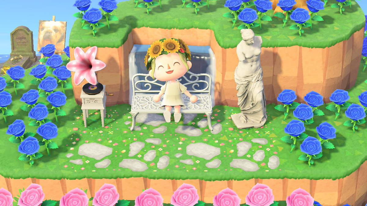 Fairy Stepping Stones  Looks great with the baby flowers and baby flowers border #acnh  #ACNHDesign #acnhpaths #AnimalCrossingDesigns #AnimalCrossingNewHorizon<br>http://pic.twitter.com/cbrSLuQmQZ