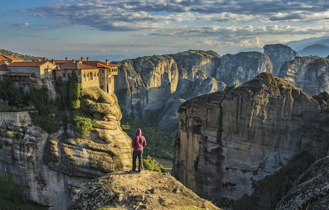 What would you be thinking if you were standing right there? @ Meteora . Inquiries to hi@greca.co . Book now and pay in up to 12 installments with no interest! . #TravelFromHome #Greece #Inspiration #Tillwemeetagain #Landscape #Meteoras #Monasteries #Amazingviews pic.twitter.com/vLBwBE9bNx