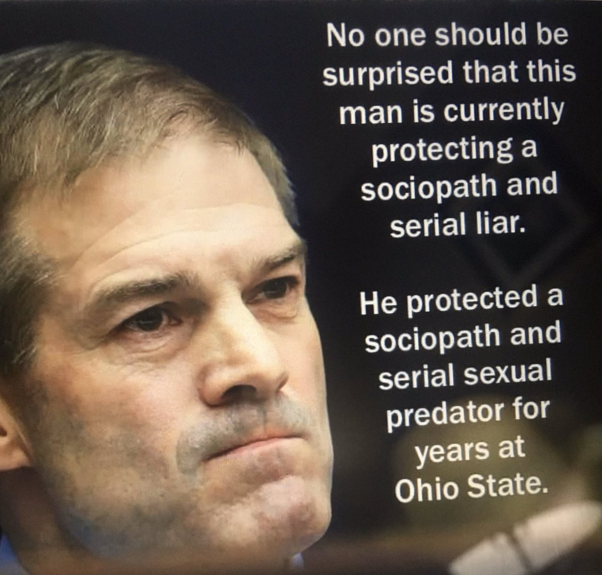@Jim_Jordan Why do you tweet stupid stuff like this? It just means I have to weigh in with...  Resign, you vile, disgusting excuse for a human being. #JimJordanKnew #jimjordanresign #JimJordanBetrayedWrestlers #JimJordanKnew #jimjordanresign #JimJordanBetrayedWrestlers See below for why...👇