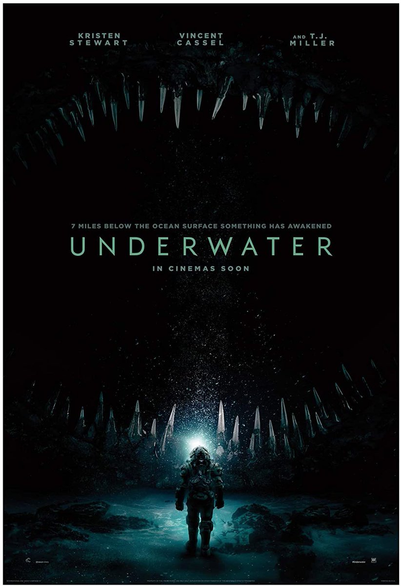 Movie I watched in #Quarantine day 28 #Underwater  I don't know why people hate #KristenStewart so much, you just have to learn not to expect a lot from her movies, just entertainment. And even though this film can get boring at times, it delivers entertainment. Score: 7/10pic.twitter.com/wPDuoYSwgr