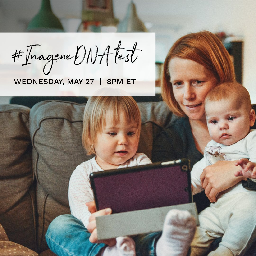 Save the date and join us for the #InageneDNATest Twitter party this Wednesday, May 27th at 8pm ET. We're slipping into our mom genes AND handing out some cool prizes. #InageneDNATest https://t.co/6laYDkmg8m