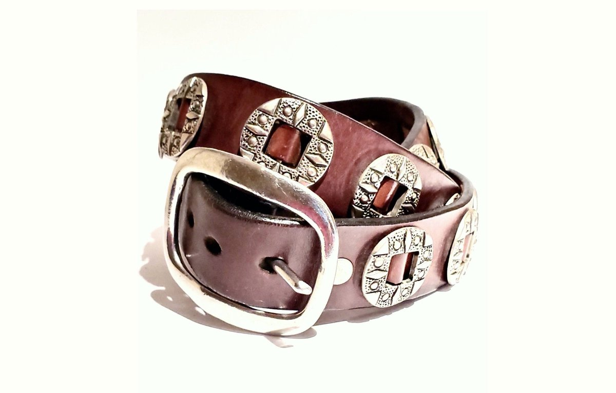 """Vintage leather Concho belt at its best! 