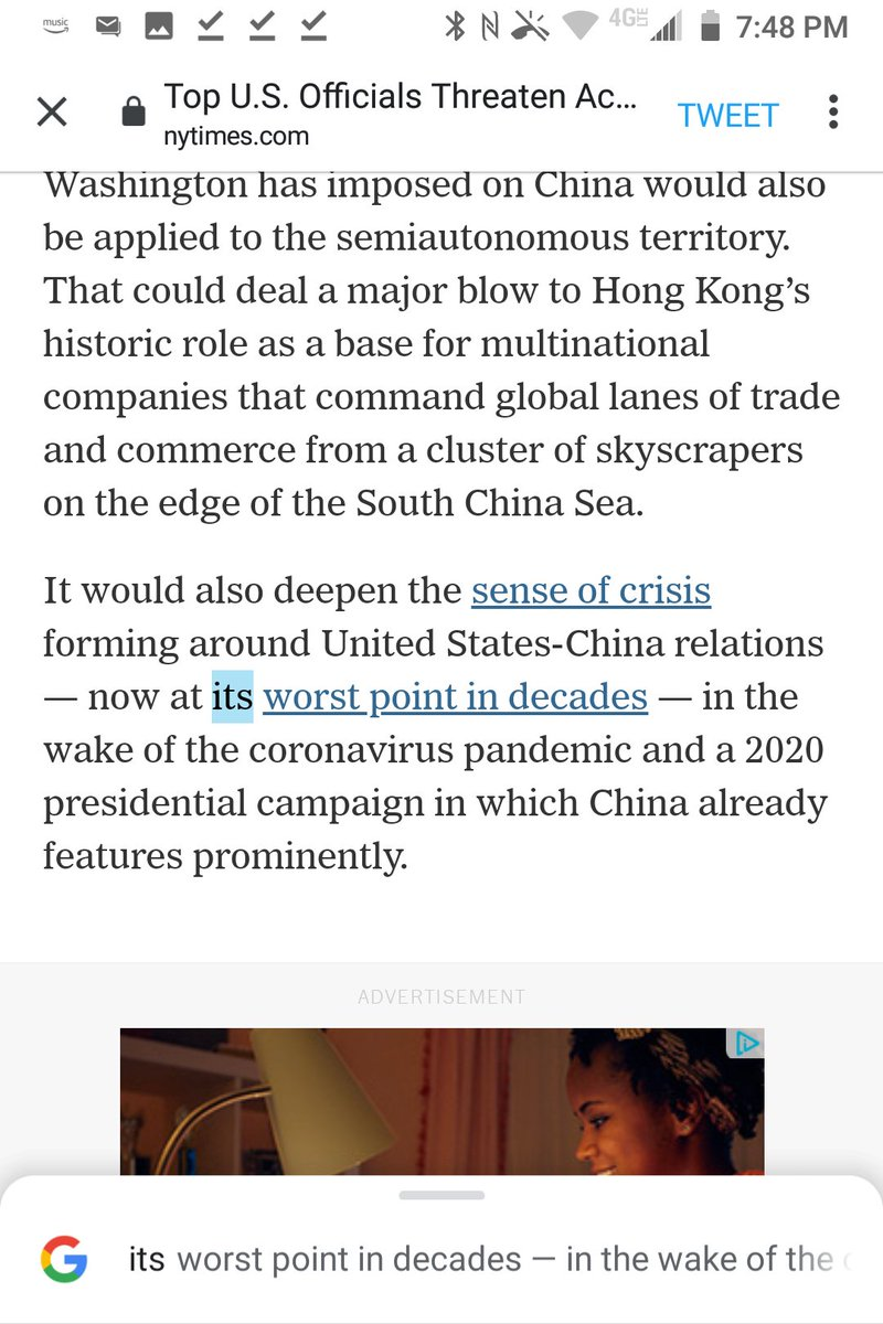 """@ewong @nytimes @SecPompeo @michaelcrowley @AnaSwanson """"its"""" is a grammatical error for """"their"""" in """"United States-China relations — now at its worst point in decades.""""  Plural relations aren't an it. https://t.co/DiFLN5w6Ej"""