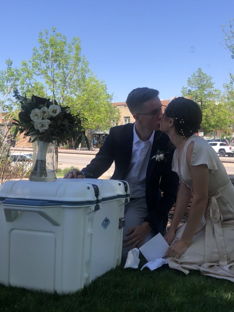Congratulations Jake and Madi. I love you and wish you the best in your life together.  A very proud dad and father in law.  #covidwedding #foco pic.twitter.com/nBSFF1QHQo