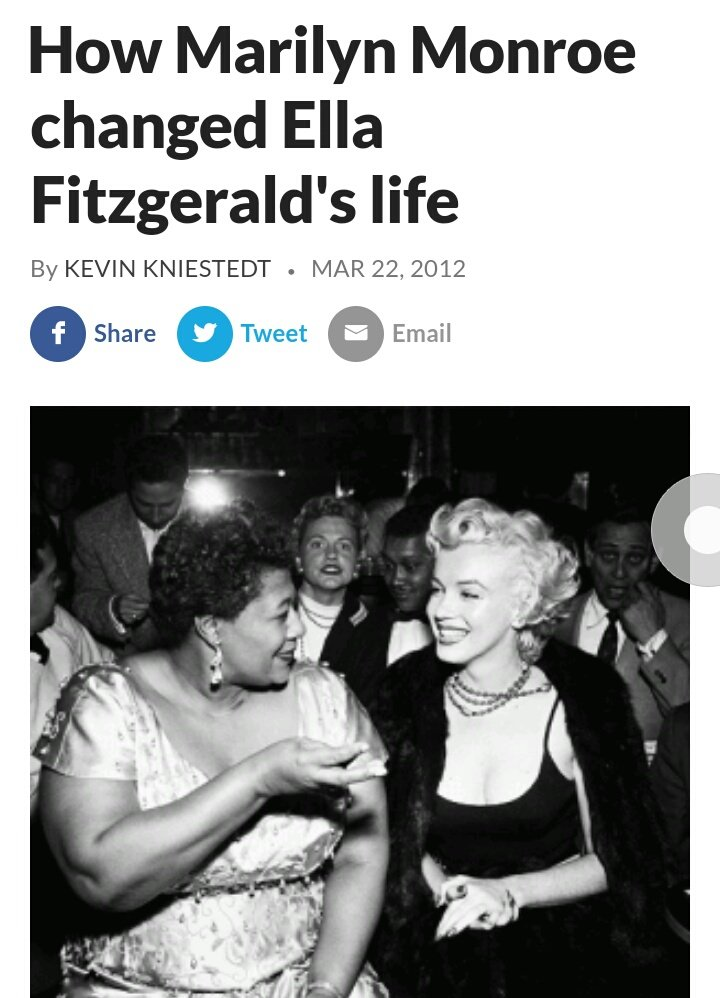 @777sluts To top it off she was very very racist, she didn't give credit to her wedding dress designer who was a black woman meanwhile marilyn helped Ella Fitzgerald receive the recognition she deserves https://t.co/NAgsmWLdmh