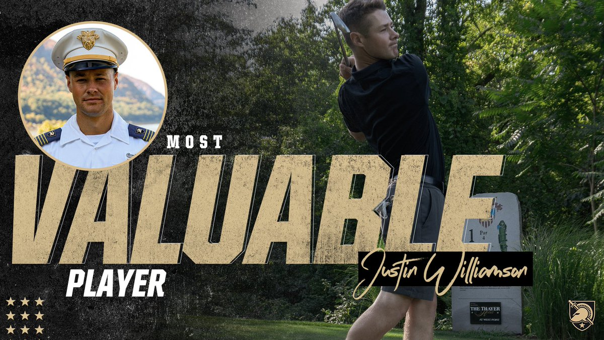 Our 2019-20 Most Valuable Player is... Justin Williamson 👏👏👏 Williamson won the Lehigh Invite, added two tournament top 10s and was a member of the GCAA PING North East All-Region Team. He had the 5th-lowest single season stroke average in program history. #GoArmy