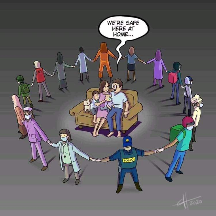 Say Thanks to the Real Super Heroes  #careandwelfare #coronaindia  #StayAtHome #IndiaFightsCorona  #LockdownNow #coronavirusindia #TamilNadulockdown #socialdistancingpic.twitter.com/UvkH3c5LVp