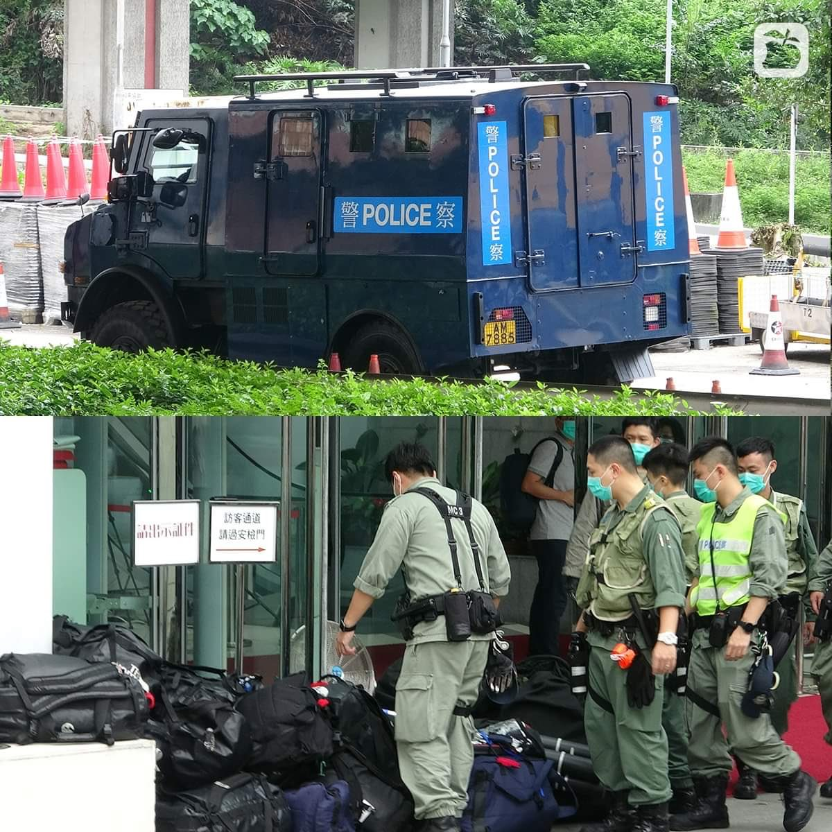 #HK police at the Liaison Office this morning appear to be fortifying it against any potential 'unrest' in wake of announcement of impending 'national security' legislation. Loyal to their colonial master til the very end. https://m.facebook.com/105259197447/posts/10159045491547448/…pic.twitter.com/oT6Knutf7D