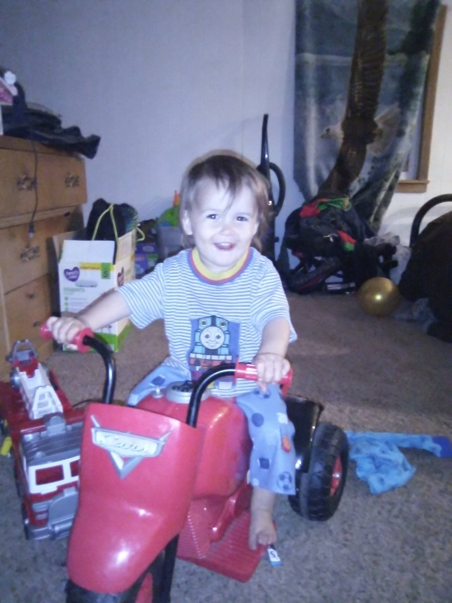 My son AJ on his motorised toy https://t.co/Vfk4EaoDVb