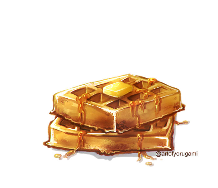Hi to all my new followers!✌️  If you guys ever wondered if it's at all possible to improve as long as you do reference studies. Well I did this sad looking waffle June 2019 as a random impulse draw. And now here I am doing a ton of food art. Never be afraid to try & keep at it! https://t.co/c0TPN6Lmha