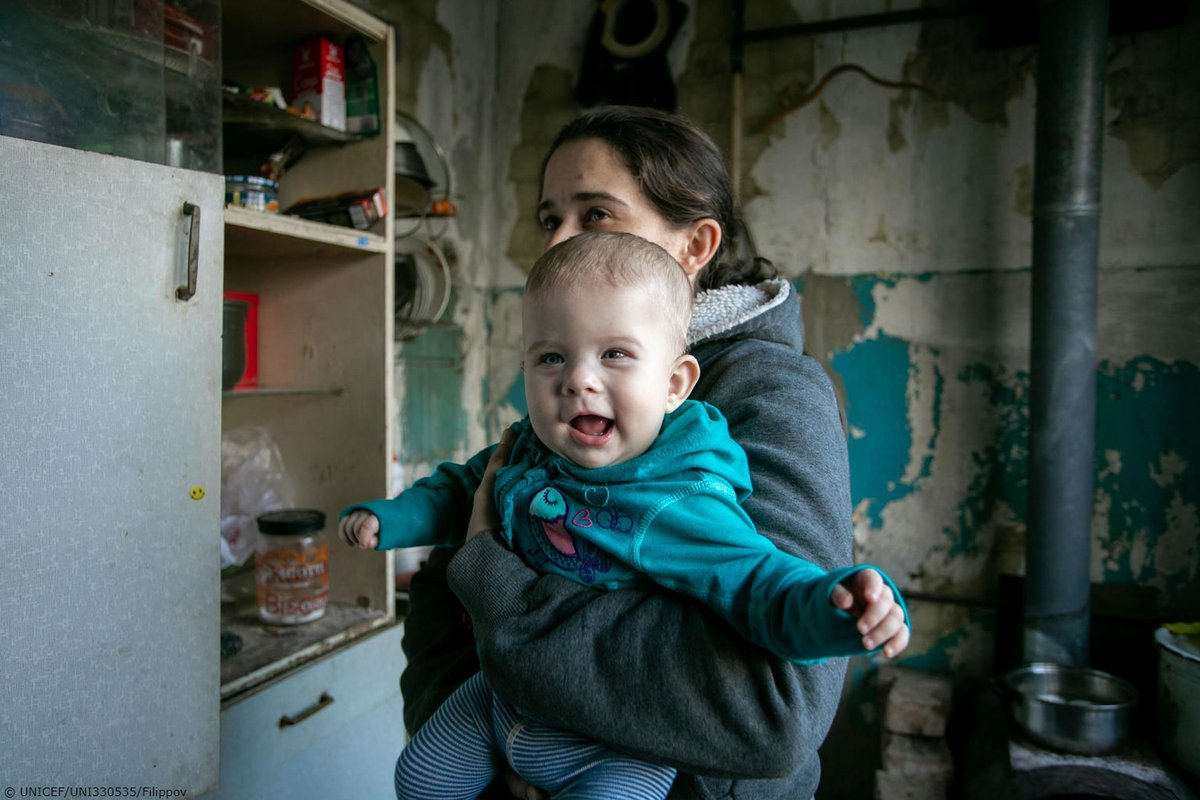 Six-month-old Polina lives with her mother Natalia in conflict-hit eastern Ukraine. UNICEF is supporting families to access clean water and sanitation. More than anything, #ChildrenUnderAttack need peace.