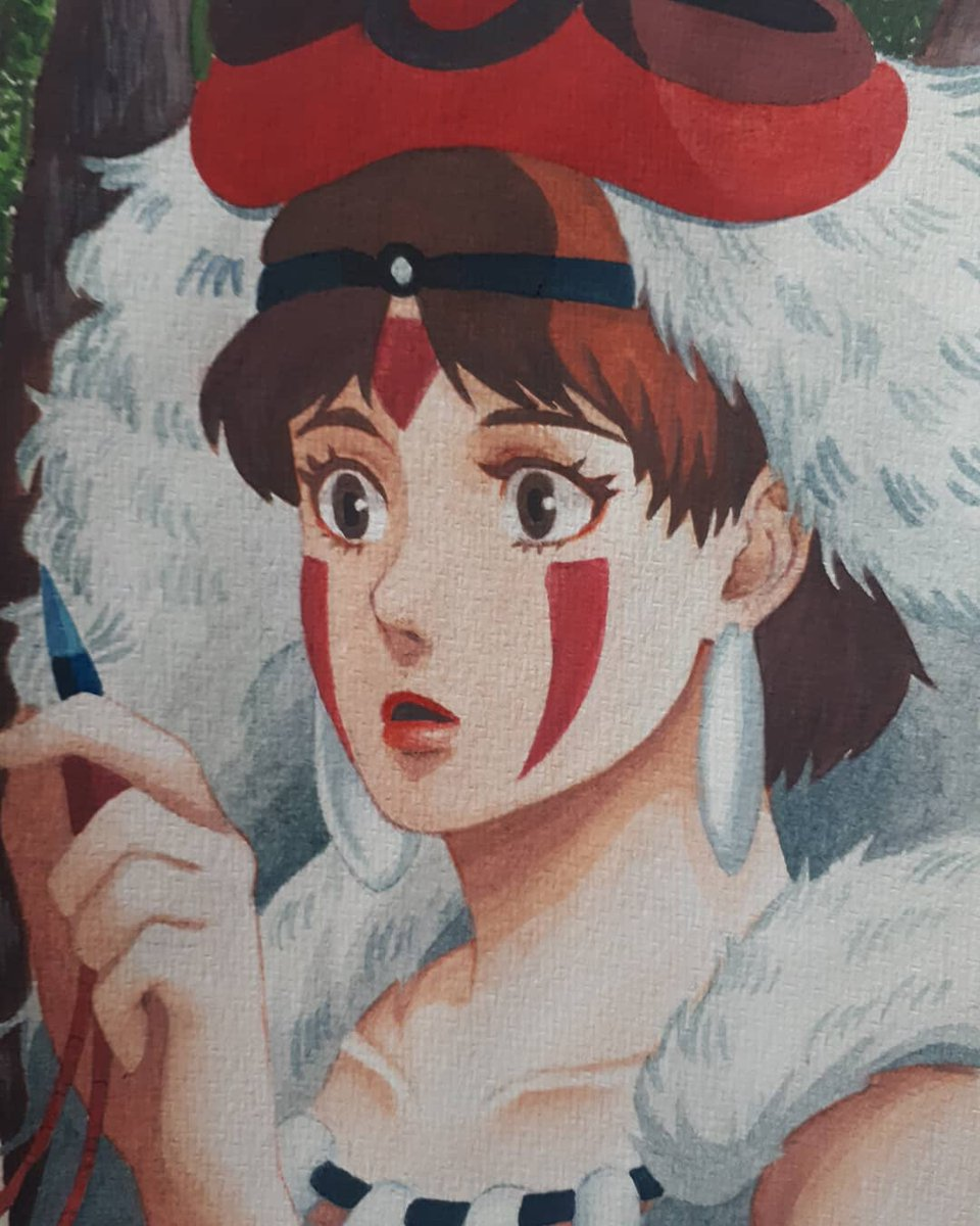 My #ghibliredraw of princess mononoke  #artph #watercolorpainting pic.twitter.com/en9dVI6SG0