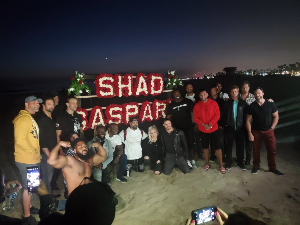 Hundreds Of Wrestlers And Fans Attend Beach Memorial Service For Shad Gaspard (Photos)