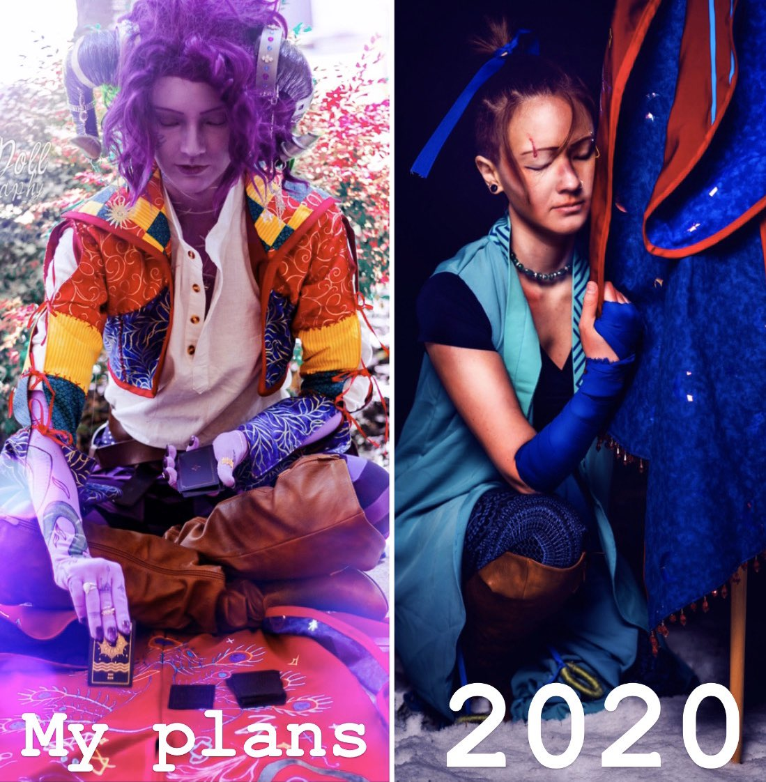 I can't resist a meme.  Molly photo by @ZeldaDoll  Beau photo by @Keyaroscuro  Cosplays made and worn by @ShelfLifeCos   #CriticalRoleCosplay #CriticalRoleSpoilers