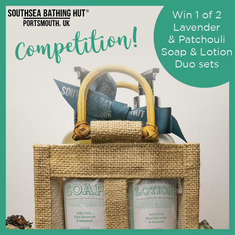 Want to be in with a chance of winning one of two #Lavender & Patchouli #Soap & #Lotion Duo sets from Southsea Bathing Hut? All you have to do is like and comment with your location. #Competition ends on 30th June. Winner will be drawn same day – entrants must be 18 or over.pic.twitter.com/Of8mOiv9Sm