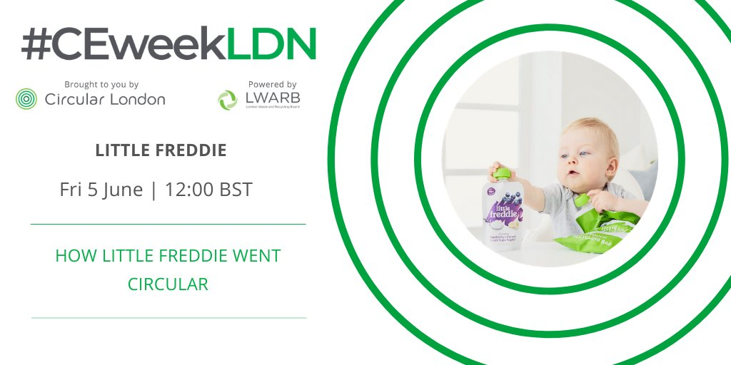 #CEweekLDN2020 event alert:  'How Little Freddie went circular' by @littlefreddieuk   Online Friday 5 June at 12PM (BST)  For more info and to register visit:  https://ceweek.london/how-little-freddie-went-circular/ … #circulareconomy #organic #baby #food #recycle #packagingpic.twitter.com/BFT6oU8z8W