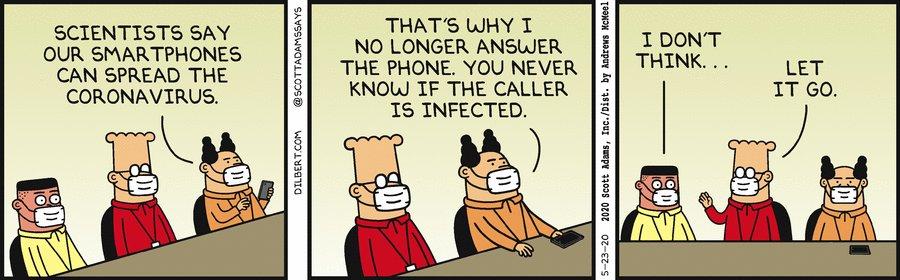 Smartphones Spread Viruses - Dilbert by Scott Adams <br>http://pic.twitter.com/xlKYQyftq2
