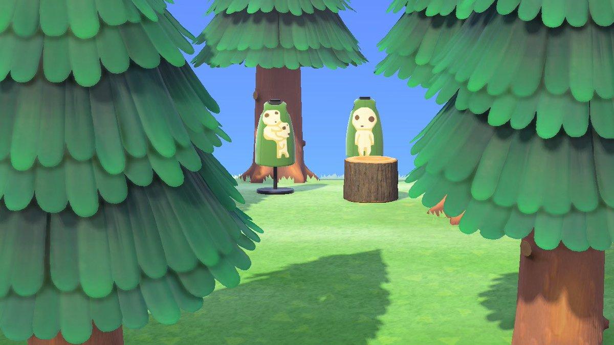 マイデザPROのほうで、もののけ姫の「こだま」をかきました!お得なリバーシブル👏💕笑#あつ森 #マイデザイン #マイデザ配布#ジブリ #どうぶつの森