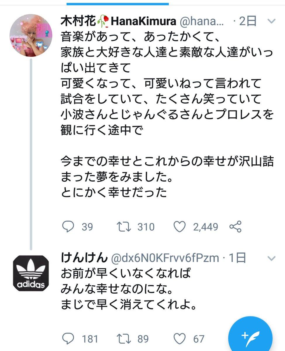 の 中傷 内容 木村 誹謗 花