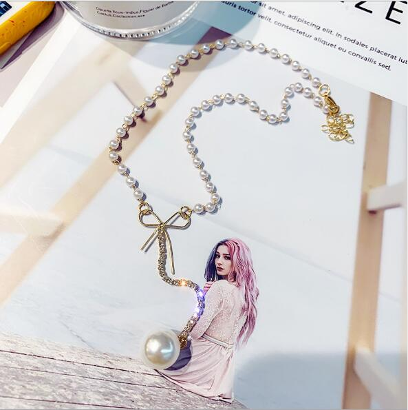 Bow Necklace Pearl Clavicle Chain Female Personality Neck Jewelry Choker Collar Neckband Short Necklace #namenecklaceofficial #necklacenameofficial #namenecklacelover #namenecklacestyle #namenecklace #fashionjewelry #instajewelry #namenecklaces #personalized #jewelrygifts