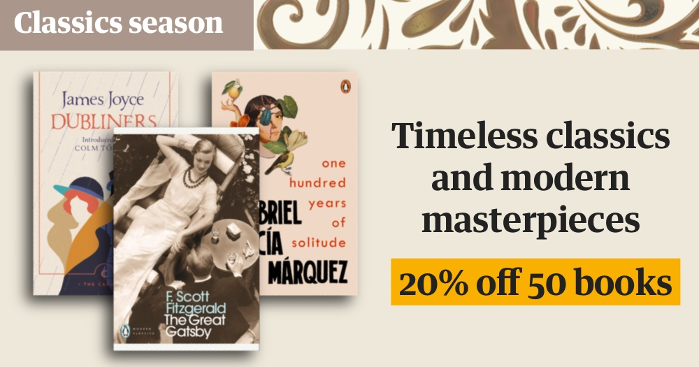Our Classics season finishes next week – don't miss out on 20% off 50 timeless classics Have a browse at The Guardian Bookshop: guardianbookshop.com/gb-featured-bo…