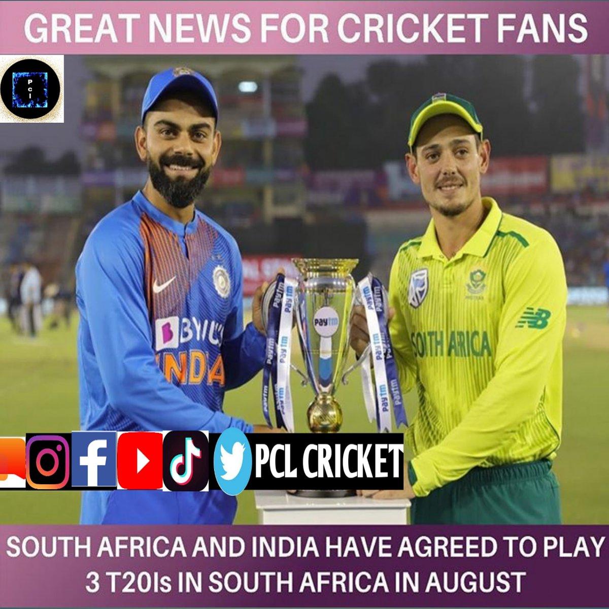 Great news 🇮🇳 #indvssa #savsind #pclcricket #viratkohli #dicock