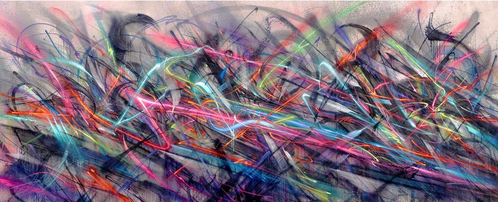 """""""Voltaic"""" Some wild light and black. #painting pic.twitter.com/QNHyd3tIZl"""