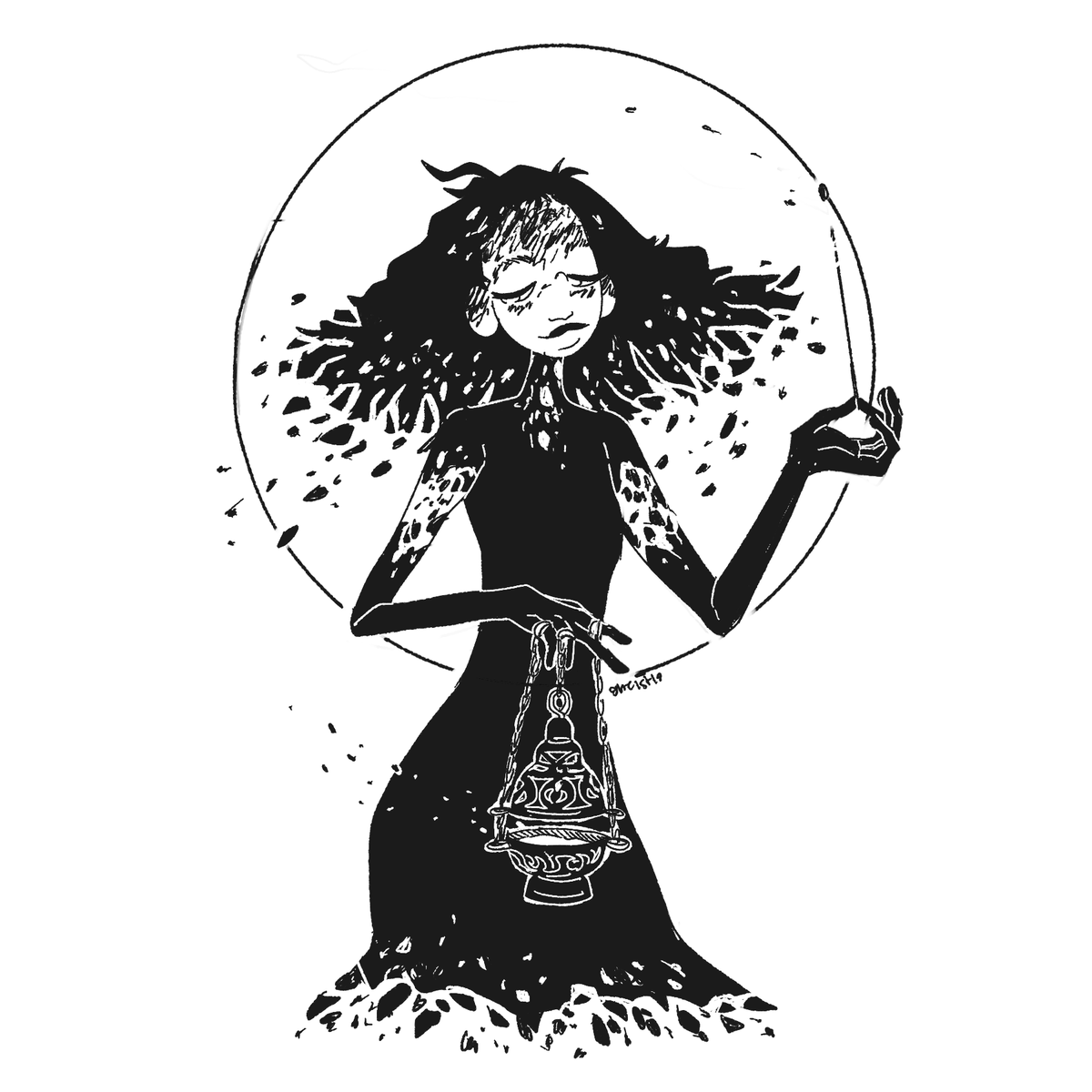some old #inktober witches i drew before, that i liked. as is with each inktober, i never actually finished the month ;__; pic.twitter.com/M3sasyFx7n