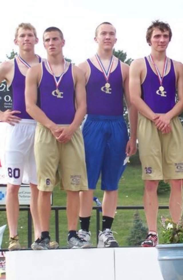 In 2010, these four guys won the Class A Gold Medal in the 4x4 at the State Track Meet. Congrats to Will, Louis, Tyler, and Lucas. @nsaahome #nebpreps <br>http://pic.twitter.com/DAF1lh18Bx