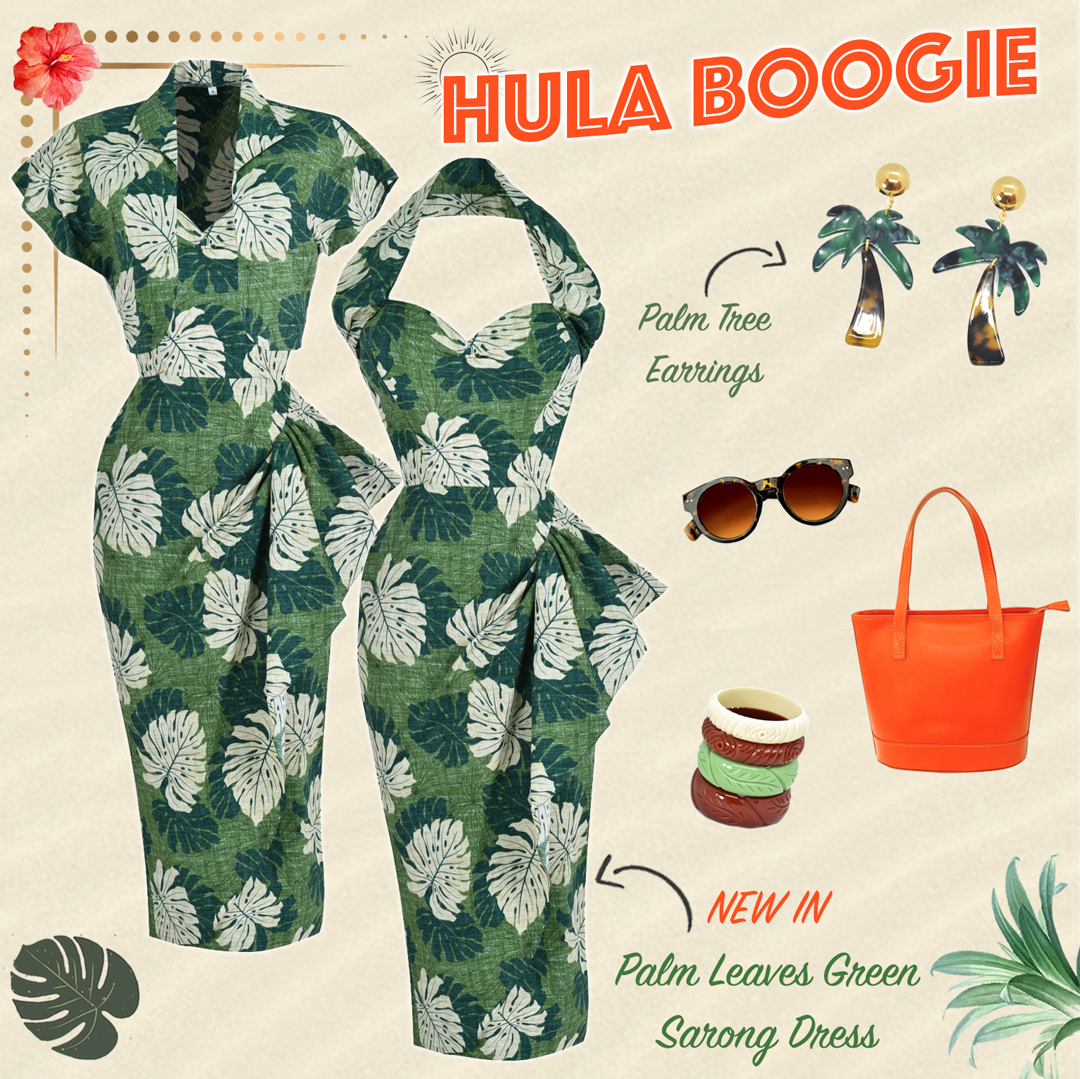 Hula Boogie! The gorgeous new Palm Leaves Green Sarong Dress is so perfect for the warm season!#vivienofholloway @vivienofholloway   #madeinlondon #vintagestyle #vintagefashion #retro #pinupstyle #sarongset #tikistyle #hawaiiandress #1940ssarong #1940sdresspic.twitter.com/Em3epQYKLM
