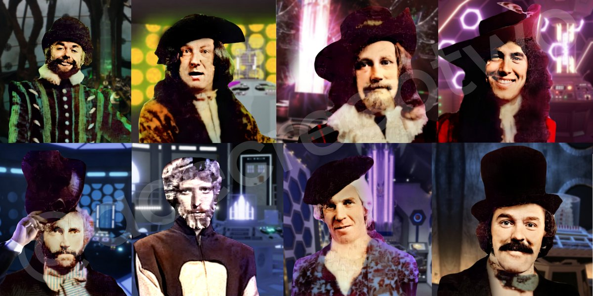 The Morbius Doctors #DoctorWho #DoctorWhoLockdown If you share these please make sure to credit me as these took a while to finish up ~ Other than that, enjoy some decent quality versions of the Doctors added by Brain of Morbius and canonised by the Timeless Children  <br>http://pic.twitter.com/RfbsOe5Nws