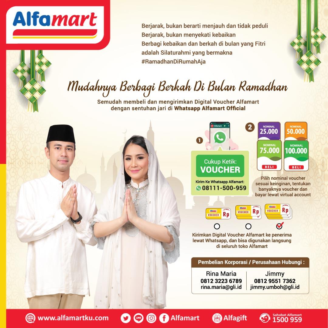Buat Mudahnya Berbagi Berkah di Bulan Ramadhan semudah membeli dan mengirimkan Digital Voucher #Alfamart dengan sentuhan jari di WhatsApp Alfamart official cukup dari rumah saja lho Sahabat  #AlfamartMelayaniIndonesia #AlfamartTerdekatAja #AlfamartPenuhRahmat #RamadhanDirumahAjapic.twitter.com/AhkBGtRZvN