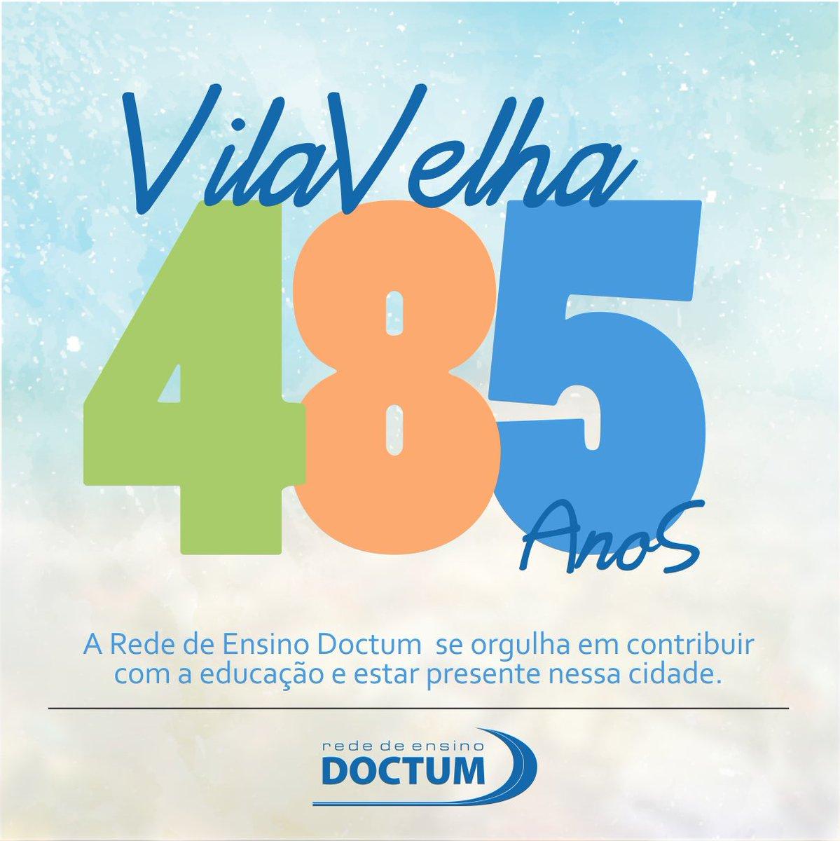 Parabéns, Vila Velha!  #SomosDoctum #RedeDoctum #VilaVelha pic.twitter.com/uVha9ZgmjQ