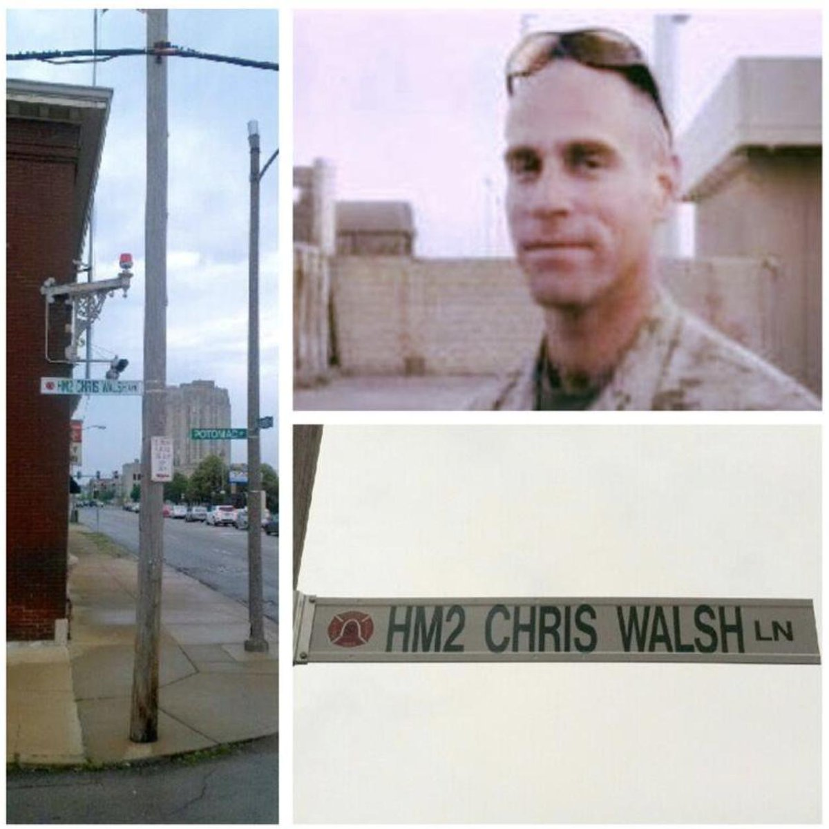 Chriss memory lives on. Most importantly, in the Marines he cared for & Iraqi lives he saved. The street beside his firehouse & a Fire Department lifesaving award both bear his name. Chris led a worthy, service filled life - one worth remembering this #MemorialDay.